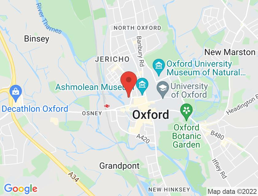 Google map static shot of Worcester College: Lecture Theatre, Oxford, OX1 2HB