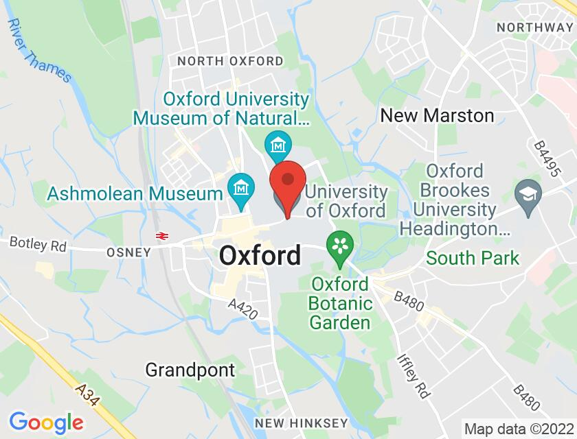 Google map static shot of Oxford Martin School: Lecture Theatre, Oxford, OX1 3BD