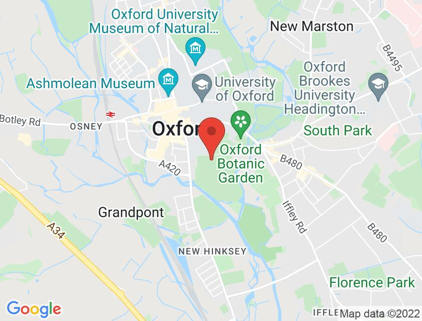 Google map static shot of Corpus Christi: Lecture Theatre, Oxford, OX1 4JF
