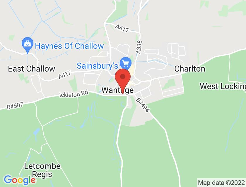 Google map static shot of The Beacon Wantage, Oxfordshire, OX12 9BX