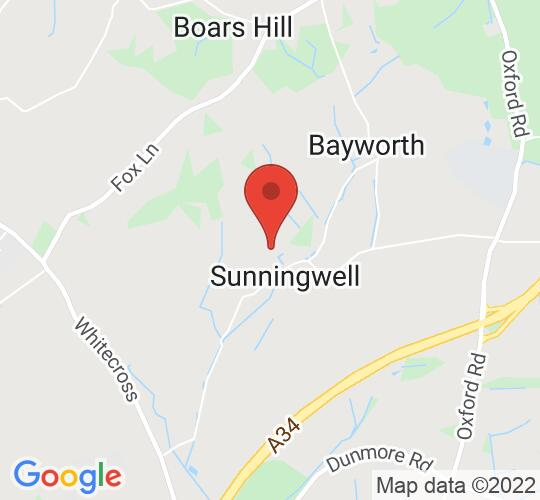 Google map static shot of Sunningwell School of Art, Oxfordshire, OX13 6RD