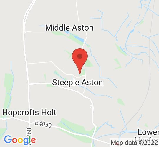 Google map static shot of Steeple Aston Village Hall, Oxfordshire, OX25 4SF