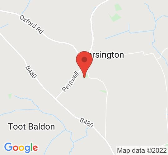 Google map static shot of St. Mary's Church Garsington, Oxfordshire, OX44 9DH
