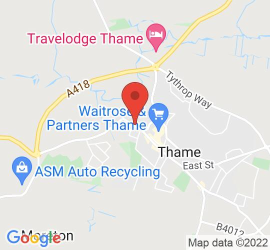 Google map static shot of Thame Museum, Thame, OX9 3AE