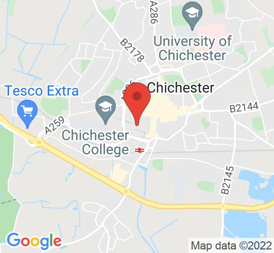 Google map static shot of Chichester Cathedral, Chichester, P019 1PX