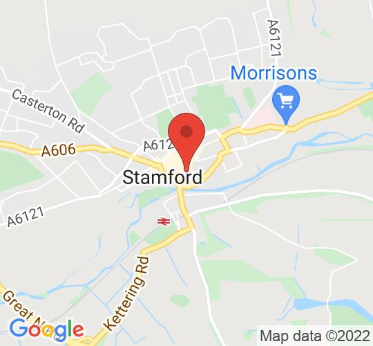 Google map static shot of Stamford Arts Centre, Stamford, PE9 2DL