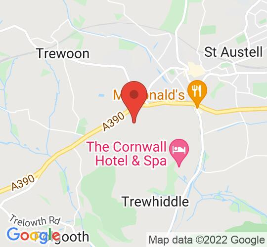 Google map static shot of St Austell Arts Centre, Saint Austell, PL25 5HJ