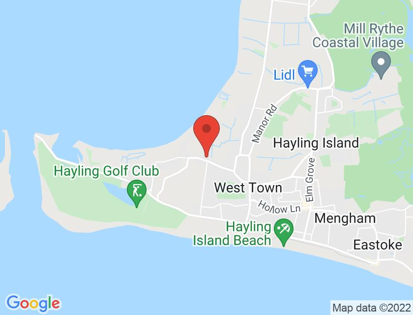 Google map static shot of HIADS Station Theatre, Hayling Island, PO11 0EH