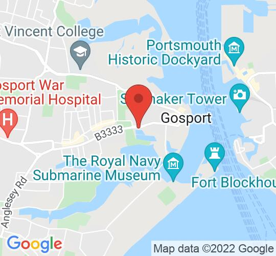 Google map static shot of GOSPORT, WALPOLE PARK, PO12 1EL