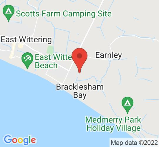 Google map static shot of Bracklesham Barn, Chichester, PO20 8HU