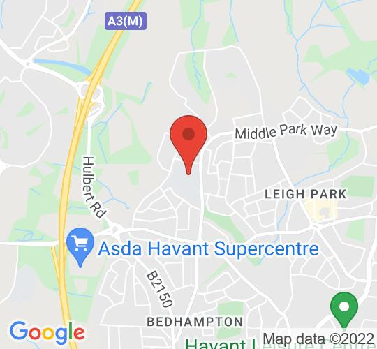 Google map static shot of Park Community School, Havant, PO9 4BU