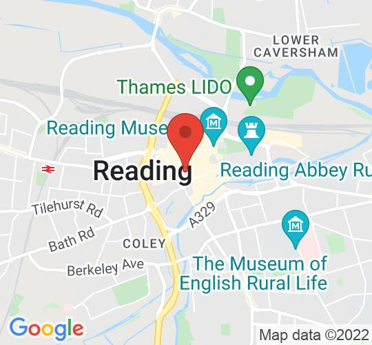 Google map static shot of Minster Church of St Mary the Virgin, Reading, Reading, RG1 2HX