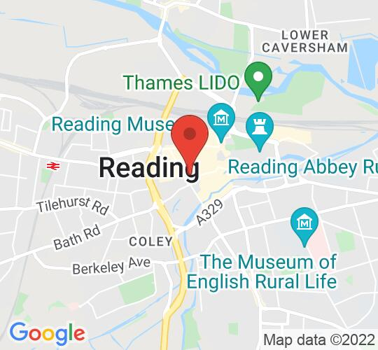 Google map static shot of Reading Minster, Reading, RG1 2LN