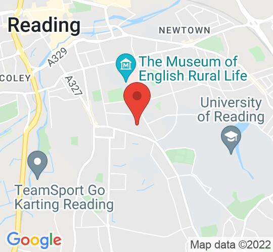 Google map static shot of Progress Theatre, Reading, RG1 5HL