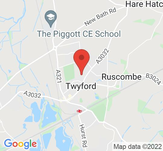 Google map static shot of Loddon Hall, Berkshire, RG10 9JA