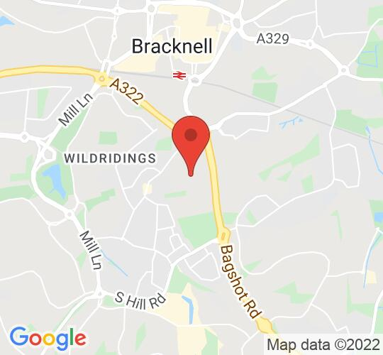 Google map static shot of Bracknell Trampoline Centre, Bracknell, RG12 7BA