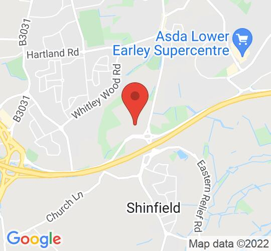 Google map static shot of Shinfield Players Theatre, Reading, RG2 9DF