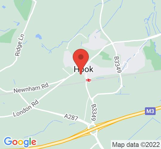 Google map static shot of Echo Hotel Music Club at the Elizabeth Hall, Raven Road, Hook RG27 9HH, Hampshire, RG27 9HH