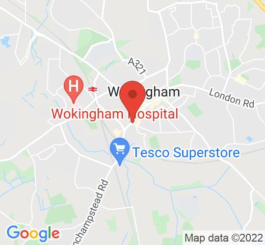Google map static shot of Wokingham Library, Wokingham, RG40 2BB