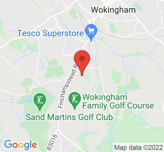 Google map static shot of Wokingham Music Club at The Whitty Theatre, Wokingham, RG40 3EU