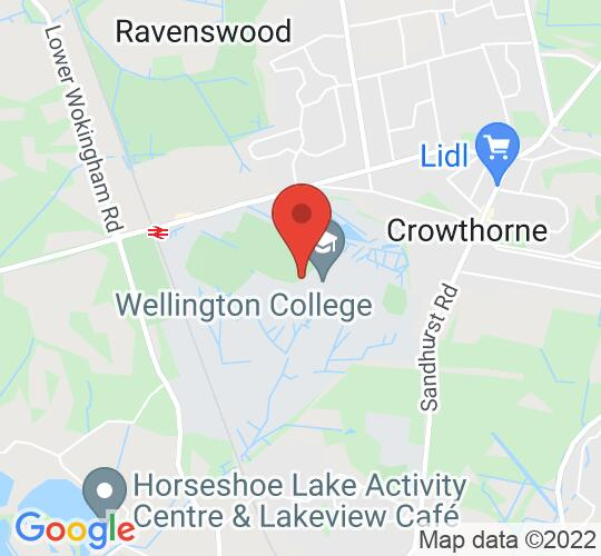 Google map static shot of Wellington College, Crowthorne, RG45 7PU