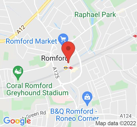 Google map static shot of Slug & Lettuce, Romford, Essex, RM1 1NX