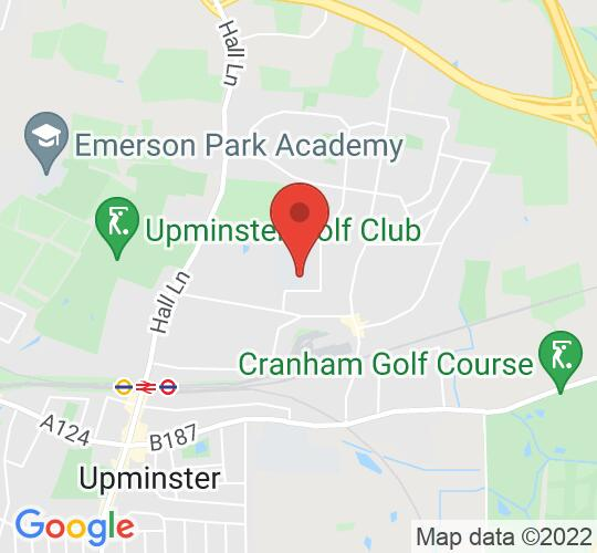 Google map static shot of Hall Mead School, Upminster, RM14 1SF