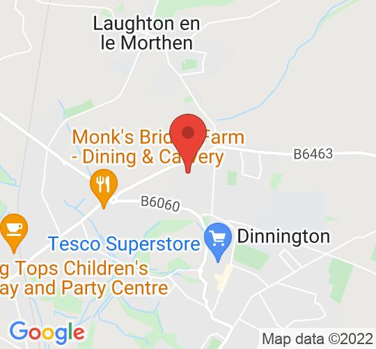 Google map static shot of Rotherham Training Solutions, Sheffield, S25 3QX
