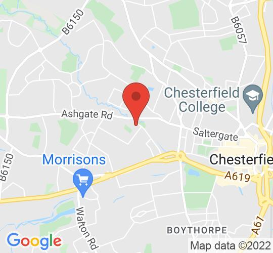 Google map static shot of Club Chesterfield, Chesterfield, S40 1DL