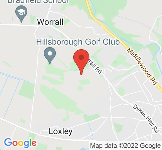 Google map static shot of Hillsborough Golf Club, Church Sreet, S6 4BE