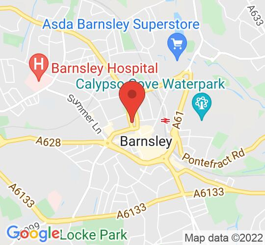 Google map static shot of Learning Lab, Experience Barnsley, Church Street, S70 2TA