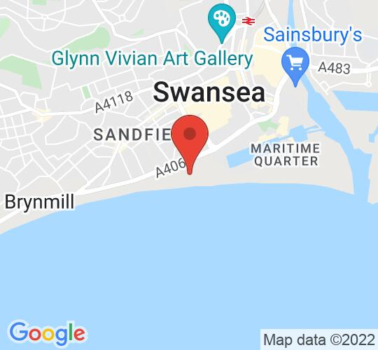 Google map static shot of Civic Centre IT suite, Swansea, SA1 3SN