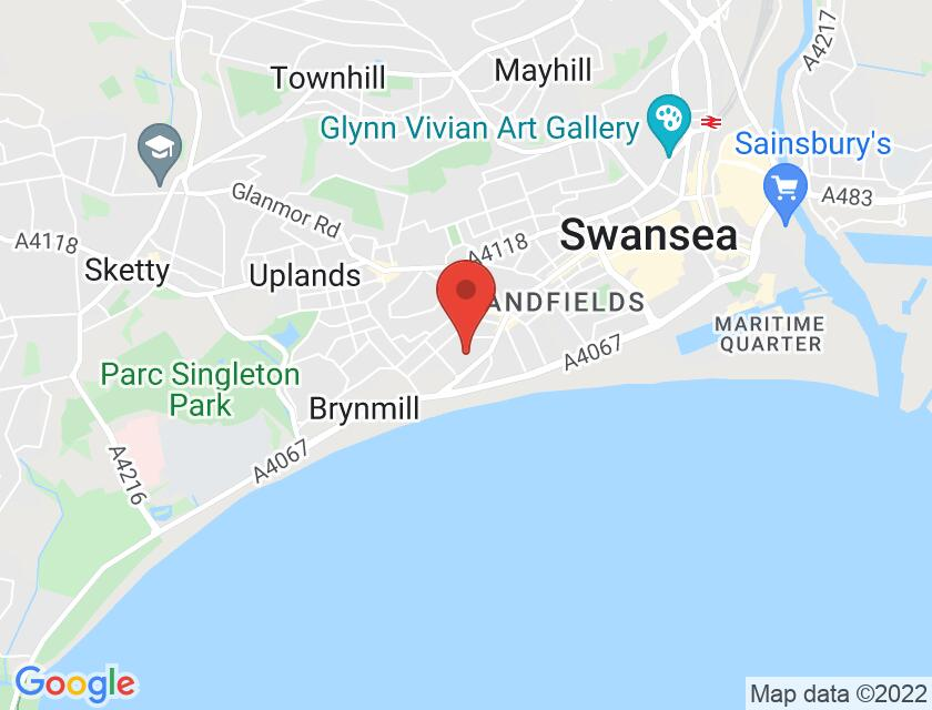 Google map static shot of Guildhall (Lord Mayors Reception Room), Swansea, SA1 4PE