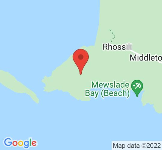 Google map static shot of National Trust Centre Rhossili, Gower, SA3 1PR
