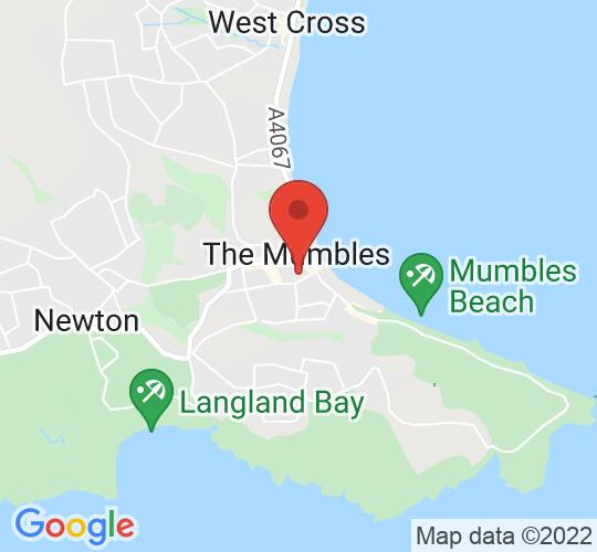 Google map static shot of Oystermouth Library, Swansea, SA3 4AA