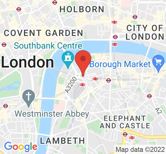 Google map static shot of St John's Waterloo, London, SE1 8TY