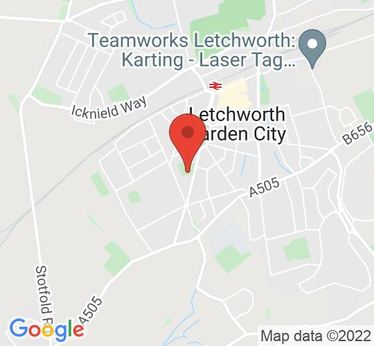 Google map static shot of St Francis College Theatre, Letchworth Garden City, SG6 3PJ