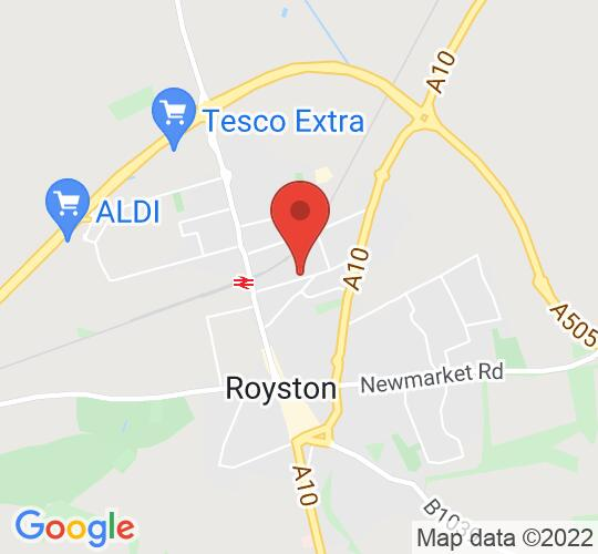 Google map static shot of Royston Methodist Church, ROYSTON, SG8 7AU