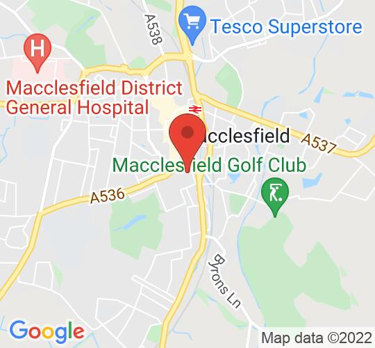 Google map static shot of MADS Little Theatre, Macclesfield, SK11 6SY