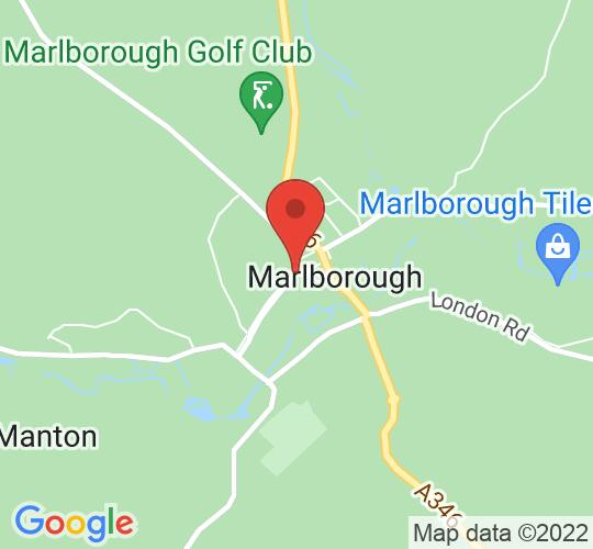 Google map static shot of Marlborough Town Hall, Wiltshire., SN8 1AA