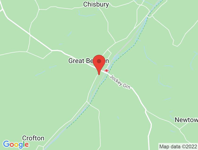 Google map static shot of Great Bedwyn Church, Wiltshire, SN8 3PE
