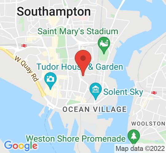 Google map static shot of Central Hall, Southampton, SO14 1NF