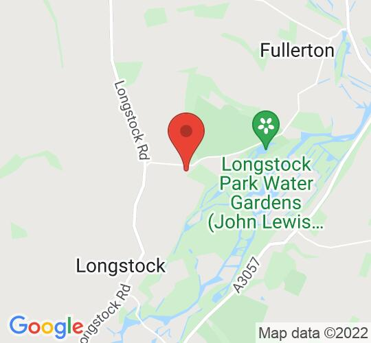 Google map static shot of The Garden of the Burrow, Longstock, Stockbridge, SO20 6EH