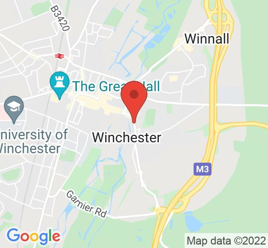 Google map static shot of Chesil Theatre, Winchester, SO23 0HU