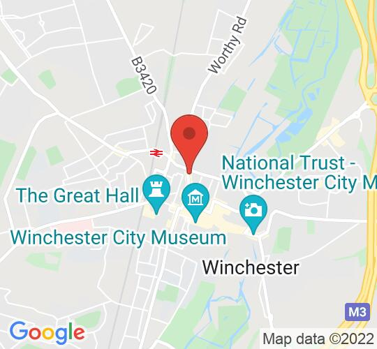Google map static shot of Cabinet Rooms, Winchester, SO23 8SA