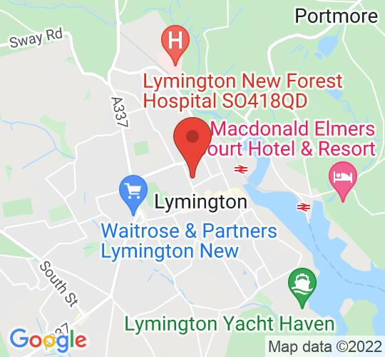 Google map static shot of The Lymington Centre, Lymington, Hampshire, SO41 9BQ