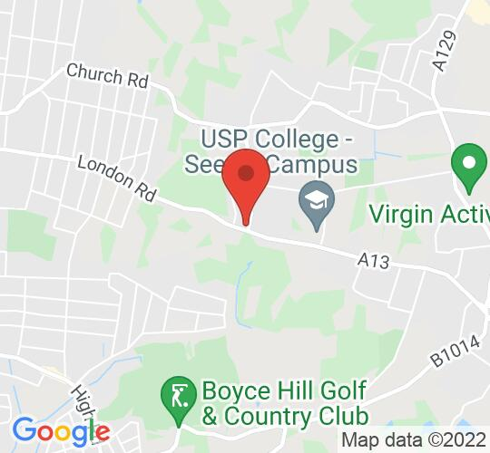 Google map static shot of Thundersley Congregational Church, Essex, SS7 3AL
