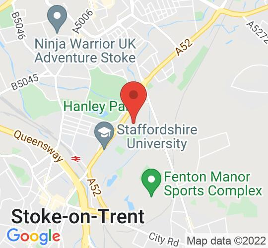 Google map static shot of Stoke Repertory Theatre, Stoke on Trent, ST4 2TR