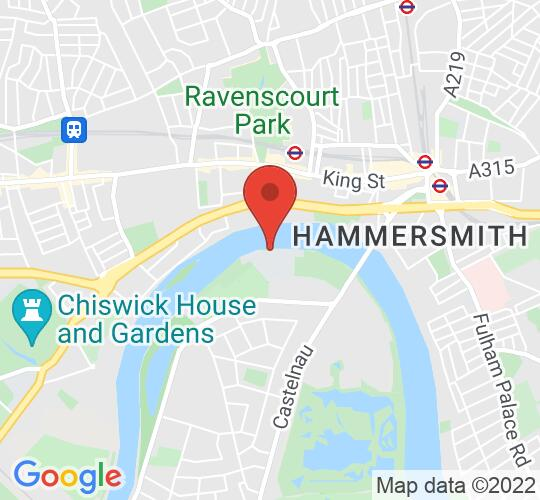 Google map static shot of The Milton Studio, London, SW13 9JT