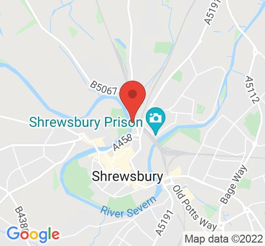 Google map static shot of The Gateway and The Lantern, and The Lantern, Meadow Farm Dr, Shrewsbury SY1 4NG, SY1 1NB